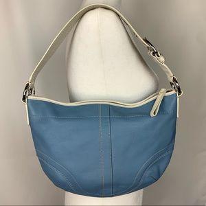 Coach Hobo Shoulder Bag Blue & White bag purse